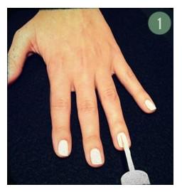 Красивые ногти на праздник – шаг 1