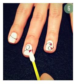 Красивые ногти на Новый год – шаг 6