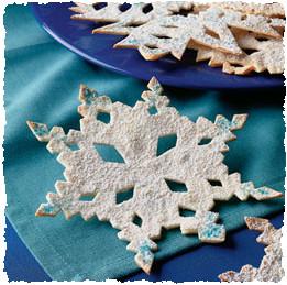 Красивые новогодние снежинки из лепёшек