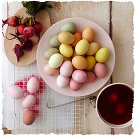 Пасхальные яйца покрашенные натуральными красителями