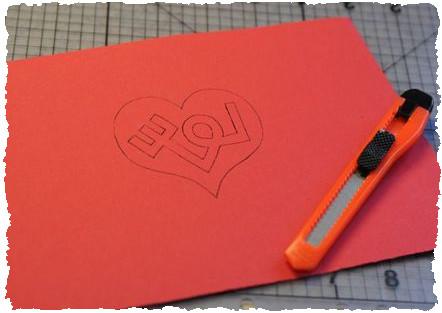 Открытка на день святого Валентина шаг 2