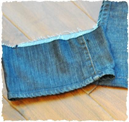 Обрезки джинсовых штанин