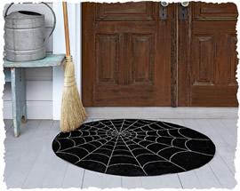 Придверный коврик с нарисованной паутиной