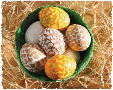 Пасхальные яйца в «чешуе»