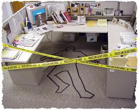 Шутка для 1 апреля – «труп» на рабочем месте