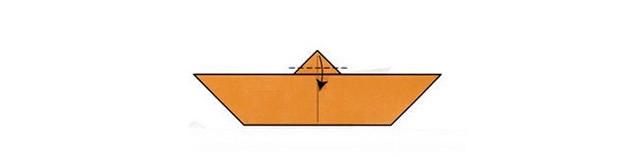 Заготовка-лодочка для оригами летучая мышь