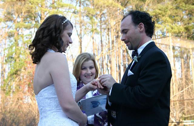 Церемония свадьбы на природе