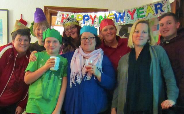Празднование Нового года в семье
