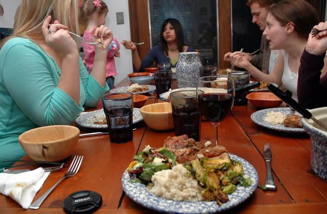 Семейный ужин в праздники