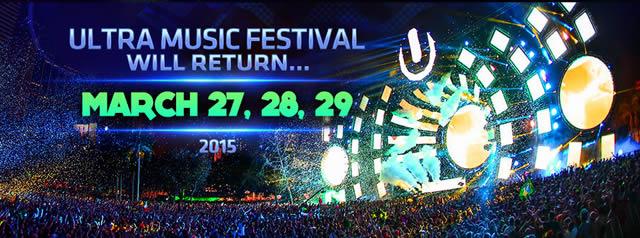 Яркие огни Ultra Music Festival